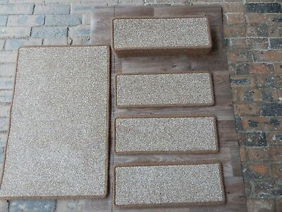 13 open plan carpet stair pad treads+mat