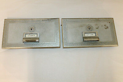 "Lot of 2 Vintage Post Office Box Doors with no keys size 11"" x 6 """