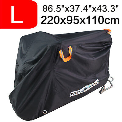 NEVERLAND L 210D Motorcycle Cover Motorbike Scooter Waterproof UV Dust Protector