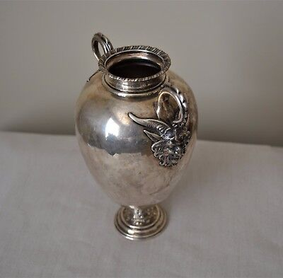 Whiting Sterling Silver Vase Applied Satyr Masks