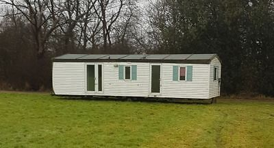 Mobile Home Static Caravan 12x32 Double Glazed Upvc Timber Look Cladding
