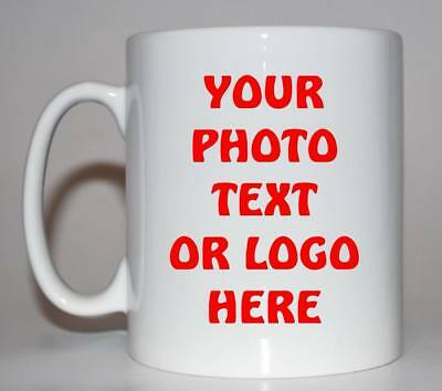 personalised photo mug, any image, text , logo. ideal teacher leaving gift