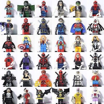 2020 All Super heroes Marvel Spiderman Ironman Batman fit Lego Mini figure