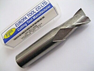 10mm SOLID CARBIDE 2 FLUTED SLOT DRILL MILL MADE BY EUROPA TOOL 3003031000 #P295