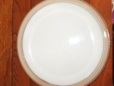 DENBY VICEROY/CASTILLE  DINNER PLATE 10.25 INCHES  brown cream stoneware