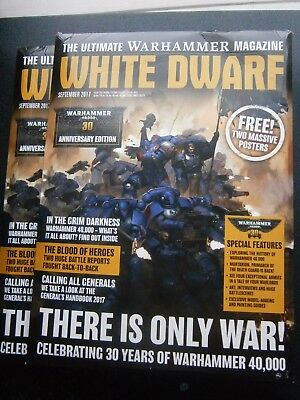 White Dwarf Magazine September Issue 2017 (new) With 2 Free Posters