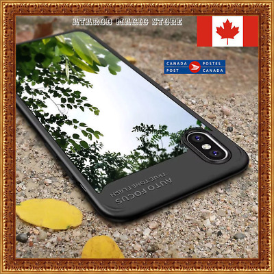 Soft Silicon TPU Case Auto Focus Clear Hard PC Armor For iPhone 6 7 8 / Plus / X