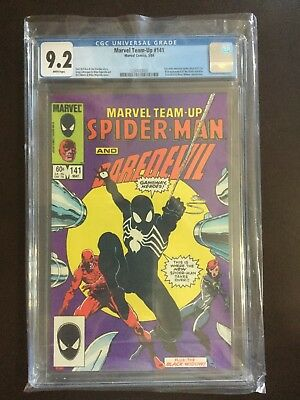 Marvel Team-Up #141, Vol1, May 1984, CGC 9.2 NM- White Pages, 1st Black Costume