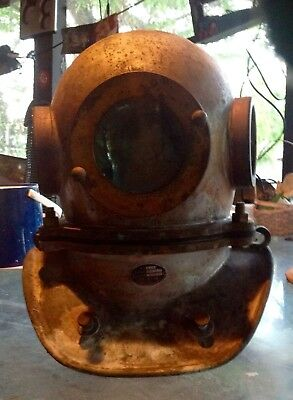 Chinese Diving Helmet 3 LIGHT 3 BOLT- Great Shape- Real Patina