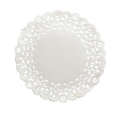 Round Paper Doilies Hygloss Products 6 Inch 100-Pk White Lace Disposable Doilies