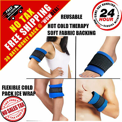 Reusable Ice Pack Gel Wrap Hot And Cold Therapy Pain Relief Back Shoulder Small