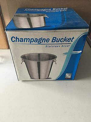Stainless Steel Champagne Wine Punch Drink Ice Cooler Party Bucket// new