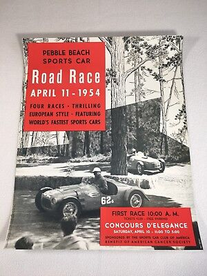 Palm Springs Airport Road Race SCCA 1961 Advertising Poster