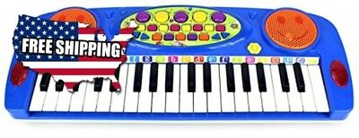 VT Happy Face 37 Keys Electric Organ Children's Kid's Battery Operated Toy Piano