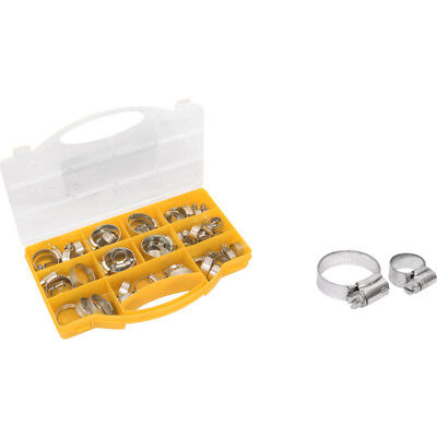 Hose Clip Pack Zinc Plated Hose Clips Portable Carry Case Approx 60 pieces