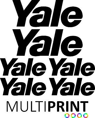 YALE Forklift Decals Sticker Kit - Forklift Truck - Spare Parts - FREE POST YAL1
