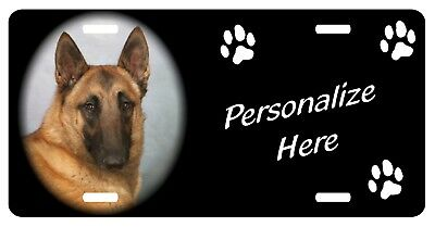 Belgian Malinois     Personalized      License  Plate