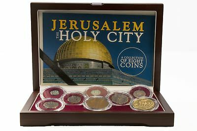 Jerusalem The Holy City, Wood Boxed Collection of 8 NGC Certified Coins