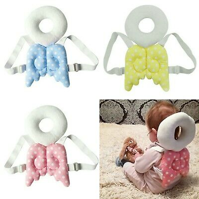 Baby Toddler Head Protection Guard Rest Wings Walking Pillow Blue Yellow Pink