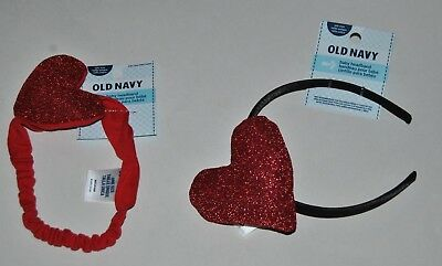 Cat /& Jack™ Girls/' Glitter Heart Headband Red - New with Tags