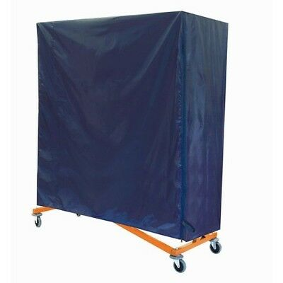 Heavy Duty Commercial Rolling Z rack Orange Base w/ Blue Nylon Cover