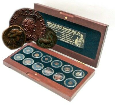 The Greek World Box of 12 Bronze Coins Ancient Greece, Genuine Certified