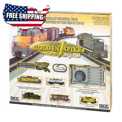 Bachmann Trains Golden Spike, N Scale Ready-To-Run Electric Train Set With Digit