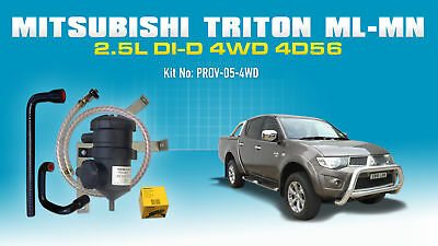 ProVent Catch Can Kit for Mitsubishi Triton 2006-15 ML MN 2.5L Challenger 4D56