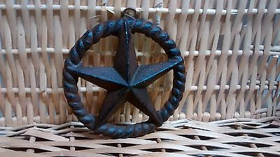Rustic Cast Iron WESTERN STAR set inside a TWISTED ROPE WALL decor