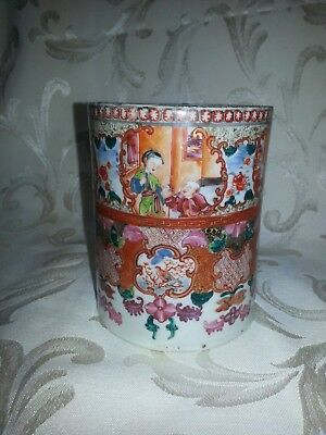 18th Century Chinese Export Porcelain Tankard with Bronze Handle