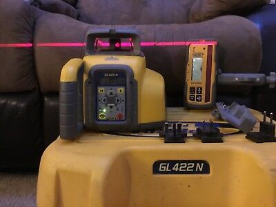 Spectra GL422N Dual Slope Grade Laser w/HL760 Receiver AND OTHER ATTACHMENTS