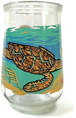 Welch's Welchs jelly glass Endangered Species HAWKSBILL SEA TURTLE 12/12 {C107}