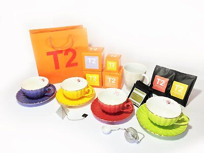 T2 Tea cup and saucers tea gift pack  1