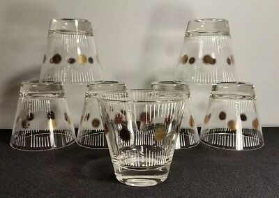 **fred Press Mid Century Low Ball/rock Cocktail Glasses**set Of 7