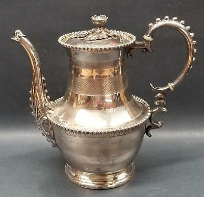 Superb Rogers & Bro Waterbury CT Extra Plate Ornate Tea/Coffee Pot Beaded/Etched