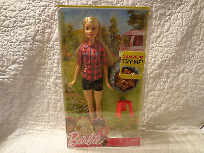 Mattel Camping Fun CAMPFIRE BARBIE With Accessories NEW 2016