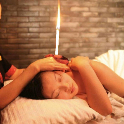 10pcs Naturel Coning Ear Candling Soins Candle Thérapie Droite