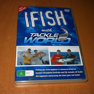 IFISH With TACKLE WORLD - PAUL WORSTELING ( DVD , REGION 4 ) ~ LIKE NEW !
