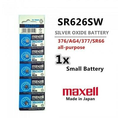 1 Piece Maxell SR626SW Silver Oxide Button Battery - Free Shipping