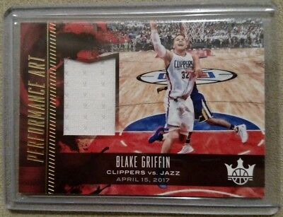 Pistons Clippers Blake Griffin Game Used Playoffs Jersey Card - 4/15/17 vs Jazz