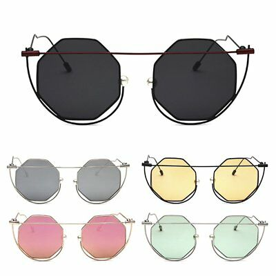 Women Metal Frame Sunglasses UV400 Protective Travel Shopping Sunglasses XW