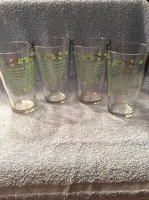 An Irish Blessing Set Of Four Straight Pint Beer Glasses