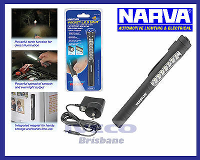 New Genuine Narva Pocket Rechargable Inspection L.E.D Light 71300