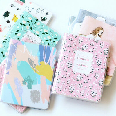 Flowery Agenda Planner Monthly Weekly Portable A6 Calendar Notebook Diary 2018