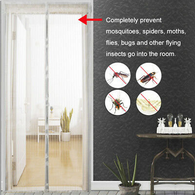 Fashion Mesh Door Curtain Magnetic Snap Fly Bug Insect Mosquito Screen Net Guard