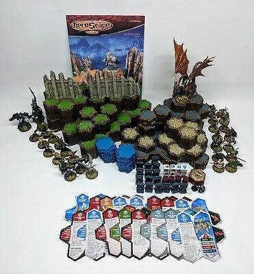 Heroscape Master Set Rise of the Valkyrie 100% Complete Base Terrain Figures