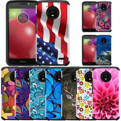 Slim Hybrid Armor Case Dual Layer Protective Cover for Motorola Moto E4