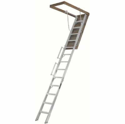 Aluminum Attic Ladder, 10 ft.-12 ft., 350 lb. Load Capacity Attic Ladder/Stairs