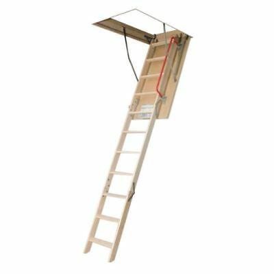 Insulated Attic Ladder, 8ft. 11in., 25in. x 47in. 300 lb. Capacity Wood Stairs