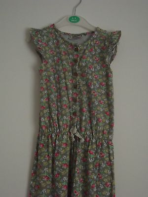 NEXT 4-5 Years Girls Playsuit Jumpsuit Green Floral Capped Sleeve Cute Summer